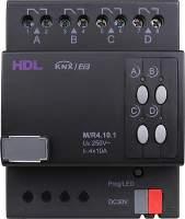 HDL-M/R04.10.1 DIN реле, 4-канальное, 10A на канал, KNX