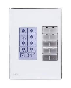 HDL-M/DLP04.1-46 Клавишная настенная панель KNX с экраном DLP, австралийский/US стандарт (без шинного соединителя HDL-M/PCI.3)Сменные рамки и обрамления (Стандартные цвета: Белое/Черное стекло)