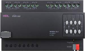 HDL-M/W04.10.1 DIN контроллер моторизованных штор, жалюзи, роллет на 4 канала, 10А