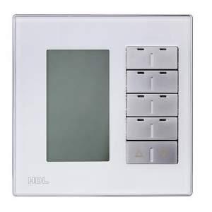HDL-MPL8FM.48 Клавишная настенная панель с экраном DLP Slim, европейский стандартСменные рамки (Стандартные цвета: Белое/Черное стекло. Все нестандартные расцветки по запросу. Металлические рамки - плюс 20$)