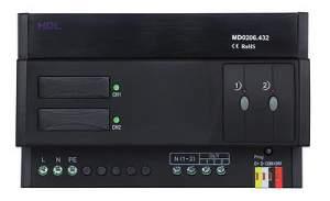 HDL-MD0206.432 DIN диммер 2-канальный, 6А на канал