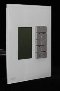HDL-MPL8FM.46 Клавишная настенная панель с экраном DLP Slim, австралийский/US стандарт.Сменные рамки (Стандартные цвета: Белое/Черное стекло. Все нестандартные расцветки по запросу. Металлические рамки - плюс 20$)