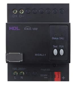 HDL-M/DALI.1 DIN DALI контроллер, с блоком питания, KNX