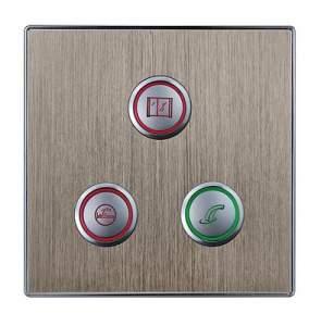 HDL-MP03R.48P 3-клавишная кнопочная Smart панель, LED индикация, европейский стандарт (в сборе с шинным соединителем HDL-MPPI.48)