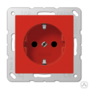 A520BFRT Штепсельная розетка SCHUKO 16A 250V~ термопласт красная