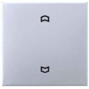 A5232FAL А 500 АлюминийНакладка нажимного электронного жалюзийного выключателя с ДУ (радио)