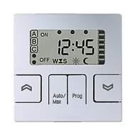 A5232STAL А 500 АлюминийНакладка жалюзийного выключателя СТАНДАРТ с таймером(мех.220ME,230ME,232ME)