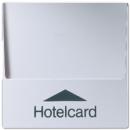 A590CARDAL А 500Алюминий Накладка карточного выключателя (без механизма) для кнопок (с подстветкой)