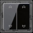 A595MPSW А 500Черный Клавиша для двойной кнопки BCU нейтрал.положения с символами