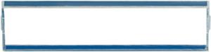 A81NA МехНакладка из оргстекла для изделий с шильдиком, прозрачная,17*54 мм