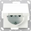 ABAS520KLKIWW АS 500Бел антибактериальный Розетка с/з с защитными шторками с крышкой безвинт зажим