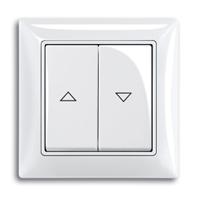 1413-0-1085 (2026/4 UC-92) BJB Basic 55 Беж Выключатель жалюзийный кнопочный