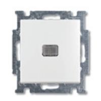 1012-0-2156 (2006/1 UCGL-92) BJB Basic 55 Беж Выключатель 1-клавишный с подсветкой