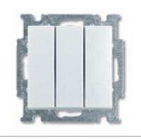 1012-0-2158 (106/3/1 UC-92) BJB Basic 55 Беж Выключатель 3-клавишный, 16А