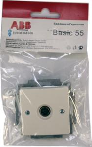 B 1743-01-94 BJB Basic 55 DIY Бел Розетка TV оконечная