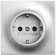 2011-0-3845 (20 EUC-783) BJE Impuls Серебро металлик Розетка с/з