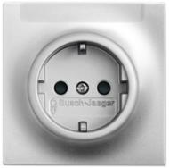 2011-0-3847 (20 EUN-783) BJE Impuls Серебро металлик Розетка с/з с шильдиком