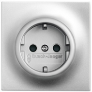 2013-0-5275 (20 EUCKS-783) BJE Impuls Серебро металлик Розетка с/з с защитными шторками