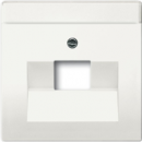 1710-0-3889(1803-884) BJE Solo/Future Белый бархат Накладка 1-й ТЛФ и комп розетки наклонной (мех 213/16)