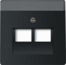 1710-0-3911(1803-02-885) BJE Solo/Future Черный бархат Накладка 2-ой ТЛФ и комп розетки наклонной (мех214/15/17)
