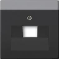 1710-0-3912(1803-885) BJE Solo/Future Черный бархат Накладка 1-й ТЛФ и комп розетки наклонной (мех 213/16)