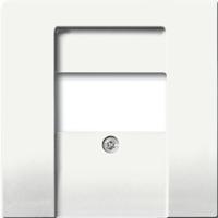 1710-0-3926(1766-884) BJE Solo/Future Белый бархат Накладка для TAE-розетки, моно-/стерео аудио розетки