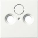 1724-0-4293(1743-884) BJE Solo/Future Белый бархат Накладка TV/TV-SAT розетки