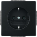 2013-0-5333(20 EUCKS-885) BJE Solo/Future Черный бархат Розетка с/з с защитными шторками