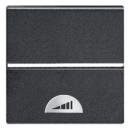 N2262.1 AN NIE Zenit Антрацит Электронный выключатель на МОПТ с таймером 10 сек-10 мин.,40-500 Вт,2 мод