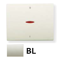 8401.4 BL NIE Olas Белый жасмин Клавиша 1-я с/п для 2-х полюсного выключателя