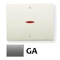 8401.4 GA NIE Olas Серый гранит Клавиша 1-я с/п для 2-х полюсного выключателя