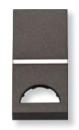 N2101.9 AN NIE Zenit Антрацит Клавиша 1-я с окошком для шильдика 1 мод