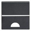 N2201.9 AN NIE Zenit Антрацит Клавиша 1-я с окошком для шильдика 2 мод