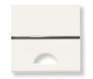 N2201.9 BL NIE Zenit Бел Клавиша 1-я с окошком для шильдика 2 мод