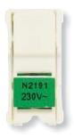 N2191 VD NIE Zenit Лампа неоновая для 1-полюсных Выключатели и кнопок, цвет цоколя зелёный