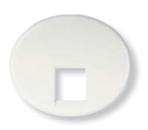 5517.1 BL (5517_1 BL) NIE Tacto Бел Накладка розетки ТЛФ/комп (RJ45) 1-ая