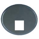 5517.1 GP (5517_1 GP) NIE Tacto Серый Накладка розетки ТЛФ/комп (RJ45) 1-ая