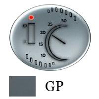5540.1 GP (5540_1 GP) NIE Tacto Серый Накладка терморегулятора 1077U/1078U