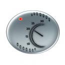 5540 PL NIE Tacto Серебро Накладка терморегулятора 8140