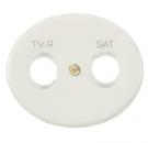 5550.1 BL (5550_1 BL) NIE Tacto Бел Накладка розетки TV-SAT