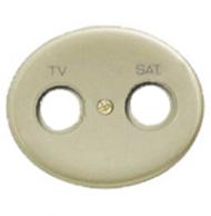 5550.1 CV (5550_1 CV) NIE Tacto Шампань Накладка розетки TV-SAT