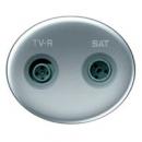 5550.1 PL (5550_1 PL) NIE Tacto Серебро Накладка розетки TV-SAT