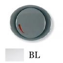 5560 BL NIE Tacto Бел Накладка светорегулятора поворотно-нажиного