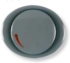 5560 GP NIE Tacto Серый Накладка светорегулятора поворотно-нажиного