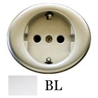 5588 BL NIE Tacto Бел Накладка розетки с/з