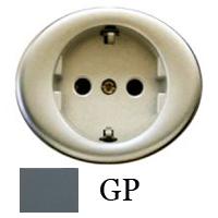 5588 GP NIE Tacto Серый Накладка розетки с/з