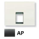 8417.1 AP (8417_1 AP) NIE Olas Перламутровый металлик Накладка 1-ой ТЛФ/комп розетки
