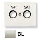8450.1 BL NIE Olas Белый Накладка розетки TV-R/Sat розетки