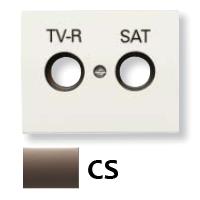 8450.1 CS (8450_1 CS) NIE Olas Атласная медь Накладка розетки TV-R/Sat розетки