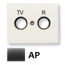 8450 AP NIE Olas Перламутровый металлик Накладка розетки TV-R розетки